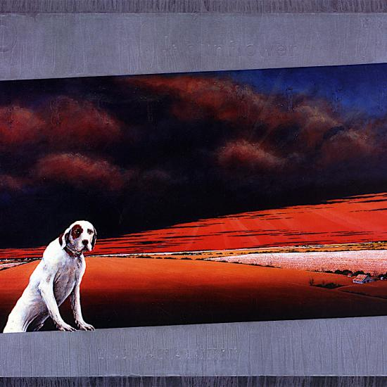Delta Dog Trot-Landscape Askew, polymer paint on canvas, 78x144""